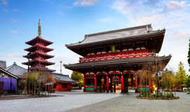 Sensouji temple Royalty Free Stock Image