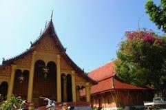 Sensoukharam tempel i den Luang Prabang staden på Loas Arkivfoton