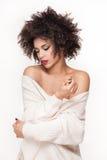 Sensual African American woman posing. Stock Photo