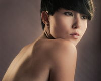 Sensual asian brunette Royalty Free Stock Image