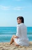 Sensual back on coast Royalty Free Stock Photo