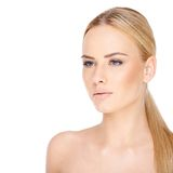 Sensual Bare Woman in Ponytail Stock Photos