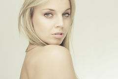Sensual beautiful blond girl Royalty Free Stock Images
