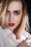 Sensual beautiful blond Stock Photos