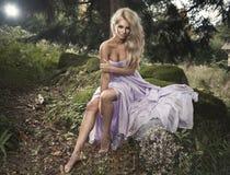 Sensual beautiful blonde woman Royalty Free Stock Images