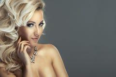 Sensual beautiful blonde woman Stock Image