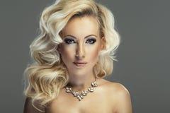 Sensual beautiful blonde woman Stock Photography