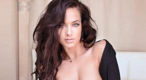 Sensual beautiful brunette woman posing Royalty Free Stock Photography
