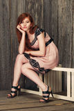 Sensual beautiful redheaded girl Royalty Free Stock Image