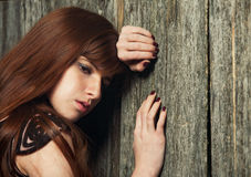 Sensual beautiful redheaded girl Stock Photography