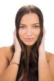 Sensual beautiful woman holding her hair Royalty Free Stock Image