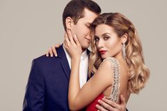 Sensual Beautiful Young Couple Dressed In Formal Clothes Stock Image