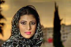 Sensual beauty arabian girl with hijab Stock Photos