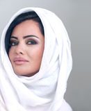 Sensual beauty arabian girl with hijab Stock Photography