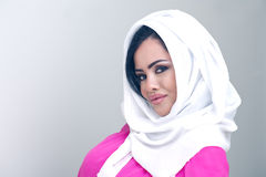 Sensual beauty arabian girl with hijab Stock Images
