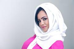 Sensual beauty arabian girl with hijab Stock Images