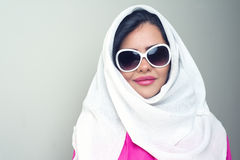 Sensual beauty arabian girl with hijab Stock Image