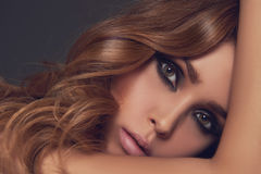 Sensual beauty girl with make-up Stock Photos