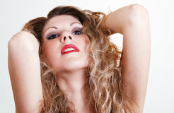 Sensual beauty girl portrait Royalty Free Stock Photo