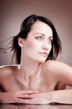 Sensual beauty woman with bare sholder. Stock Photography