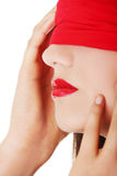 Sensual blindfold woman Royalty Free Stock Images