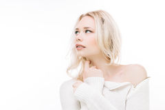 Sensual blond Royalty Free Stock Images