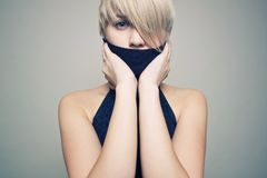 Sensual blond girl Stock Image