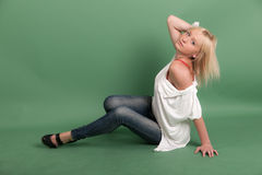 Sensual blond girl Stock Image