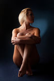 Sensual blond naked woman Stock Images