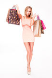 Sensual blond shopper. Stock Image