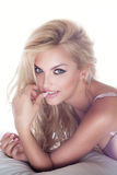 Sensual blonde beauty posing Stock Photos