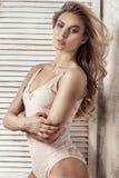 Sensual blonde caucasian girl posing. Stock Photography