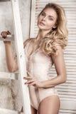 Sensual blonde caucasian girl posing. Royalty Free Stock Photography