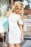 Sensual Blonde Girl Posing Royalty Free Stock Photography