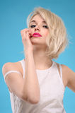 Sensual blonde hair woman Stock Image