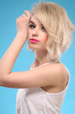 Sensual blonde hair woman Stock Photography