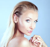 Sensual blonde woman Royalty Free Stock Photo