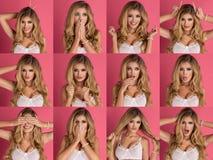 Sensual blonde woman Stock Images