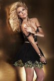 Sensual blonde woman posing Royalty Free Stock Photography