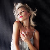 Sensual blonde woman posing Royalty Free Stock Photo