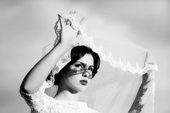 Sensual bride outdoor Royalty Free Stock Image