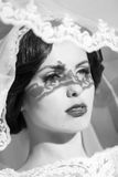Sensual bride outdoor Stock Images