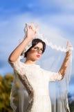 Sensual bride outdoor Stock Image