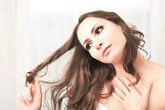 Sensual brunette Royalty Free Stock Photos