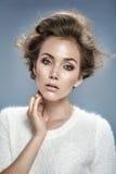 Sensual brunette with amazing eyes Stock Photography