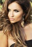Sensual brunette beauty posing . Stock Image