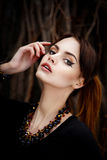 Sensual brunette female Stock Photo