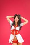 Sensual brunette nurse posing on Royalty Free Stock Photos