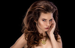 Sensual brunette with penetrating look Stock Photography