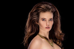 Sensual brunette with penetrating look Royalty Free Stock Photo